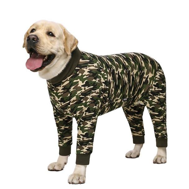 Green Camo Large Dog Onesie Pyjamas