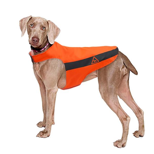 Orange Hi-Vis Reflective Waterproof Dog Vest