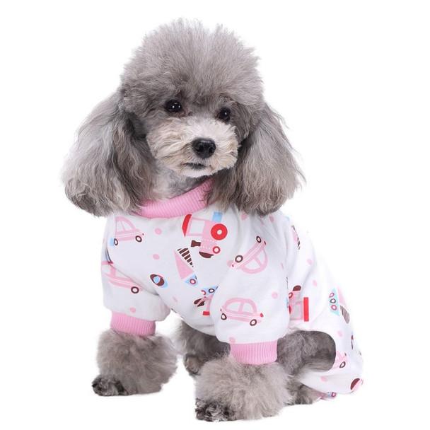 Pink Transport Dog Pyjamas