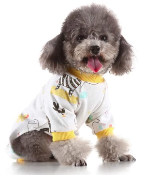 Yellow Animals Dog Pyjamas