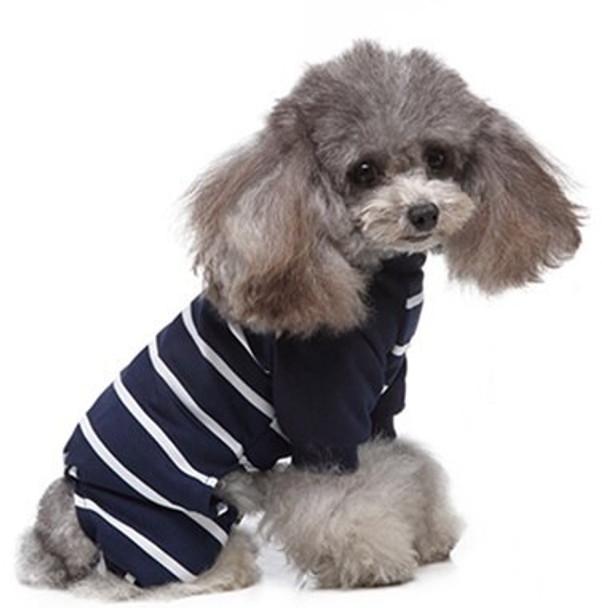 Blue White Striped Dog Pyjamas