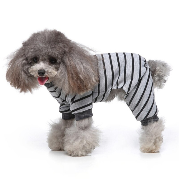 Grey Striped Dog Pyjamas