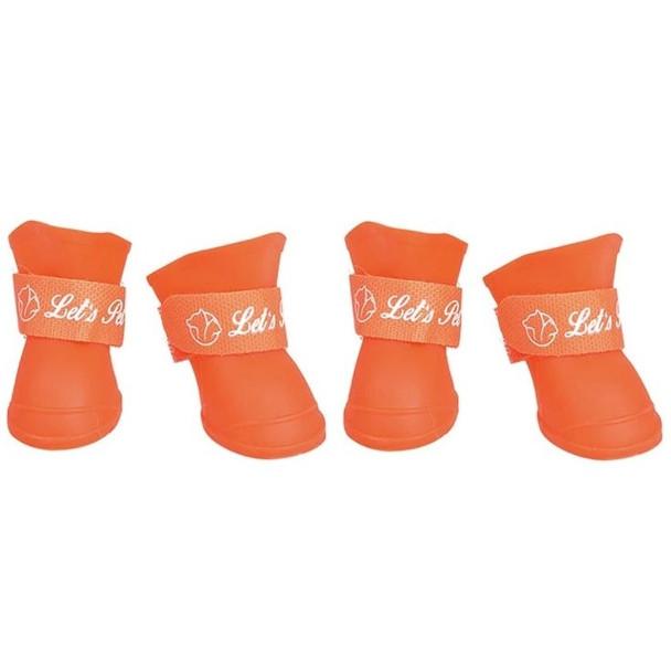 Orange Waterproof Dog Wellies