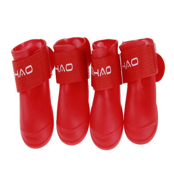 Red Waterproof Dog Wellies