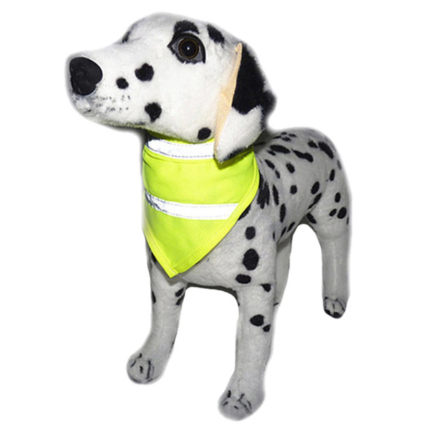Yellow Fluorescent Hi-Vis Dog Safety Bandana