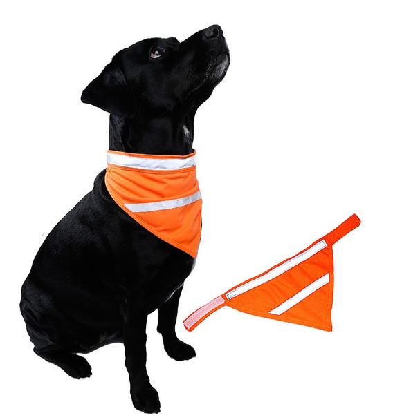 Orange Fluorescent Hi-Vis Dog Safety Bandana