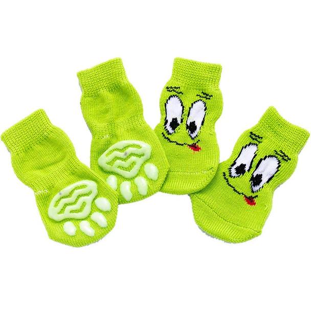Green Face Dog Socks