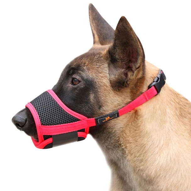 Red Black Dog Mouth Muzzle