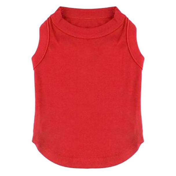 Red Plain Dog Vest [Size XXL]