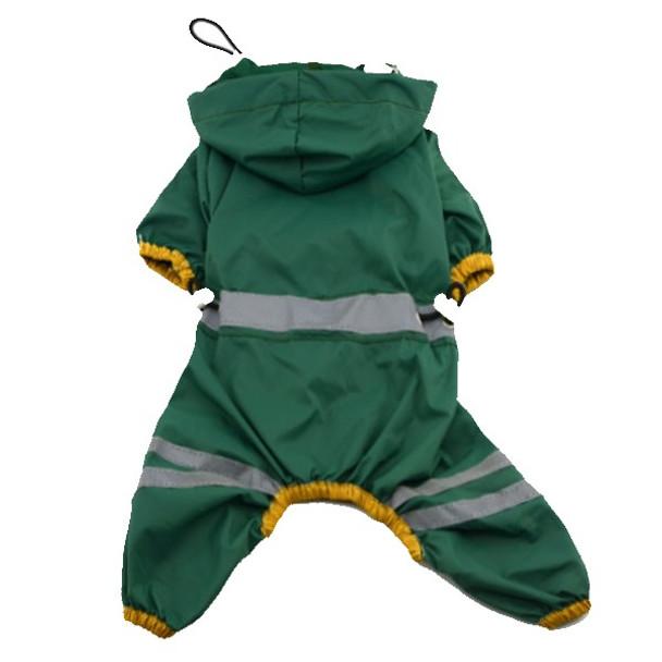 Dark Green Dog Rainsuit
