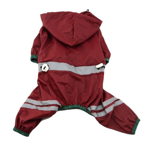 Dark Red Dog Rainsuit