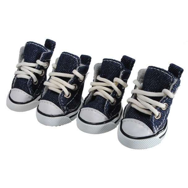 Blue Denim Dog Boots