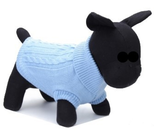 Blue Knitted Dog Jumper