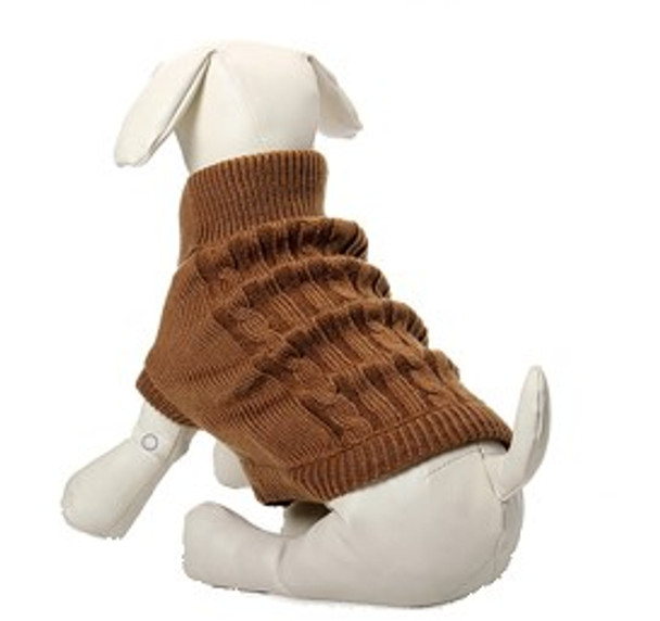 Brown Knitted Dog Jumper