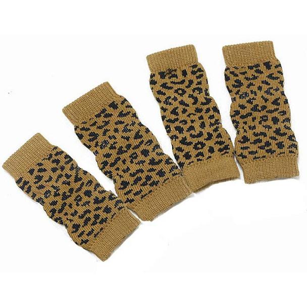 Leopard Print Dog Ankle Socks