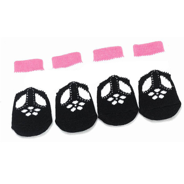 Black Shoe Dog Socks