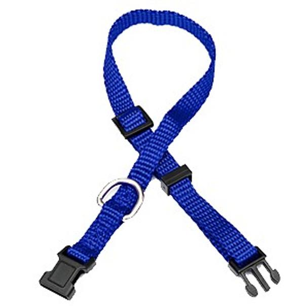 Blue Nylon Dog Collar