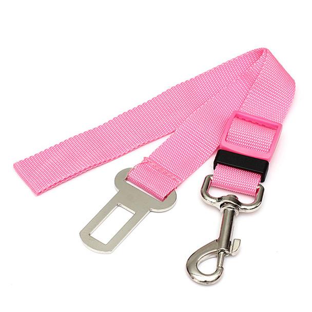 Pink Car Seatbelt Dog Lead