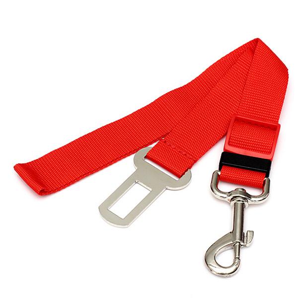 Red Car Seatbelt Dog Lead