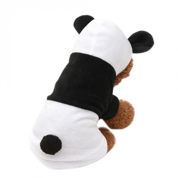 Black/White Panda Fleece Dog Coat