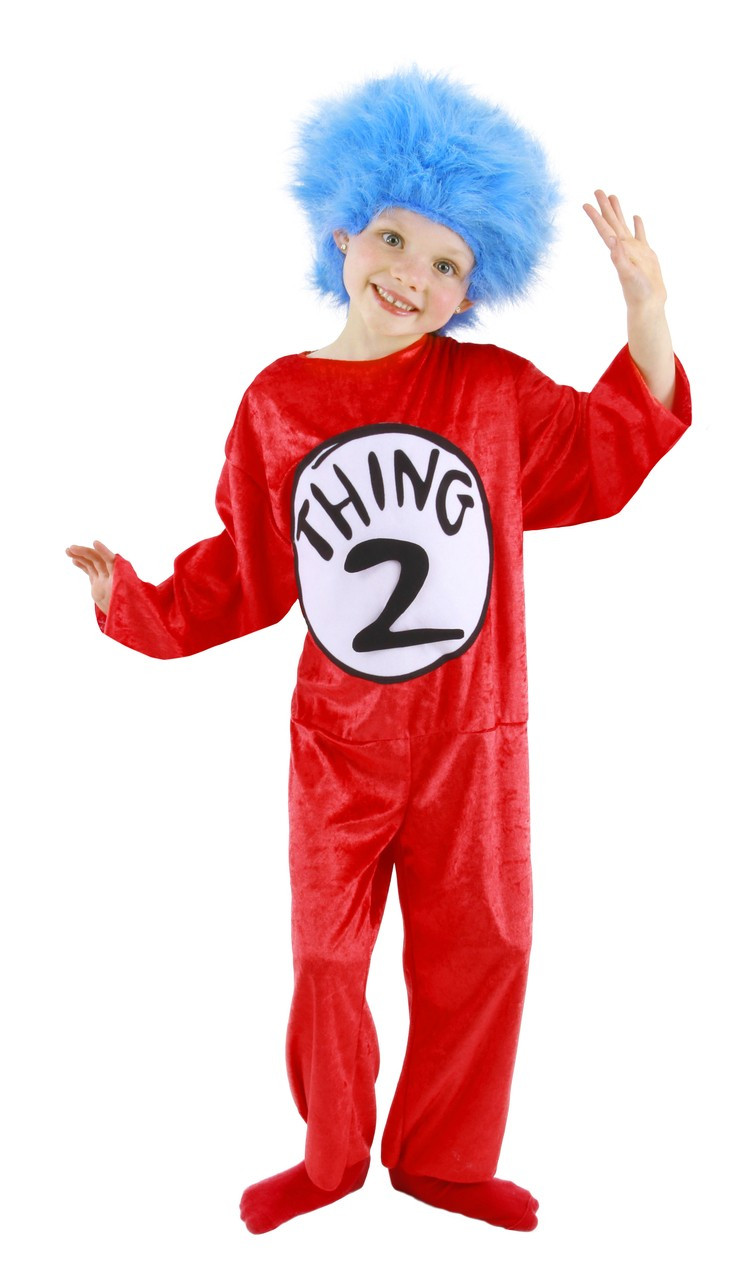 b9f830d7 Dr Seuss Thing 1 and 2 Childs Costume The Cat in the Hat