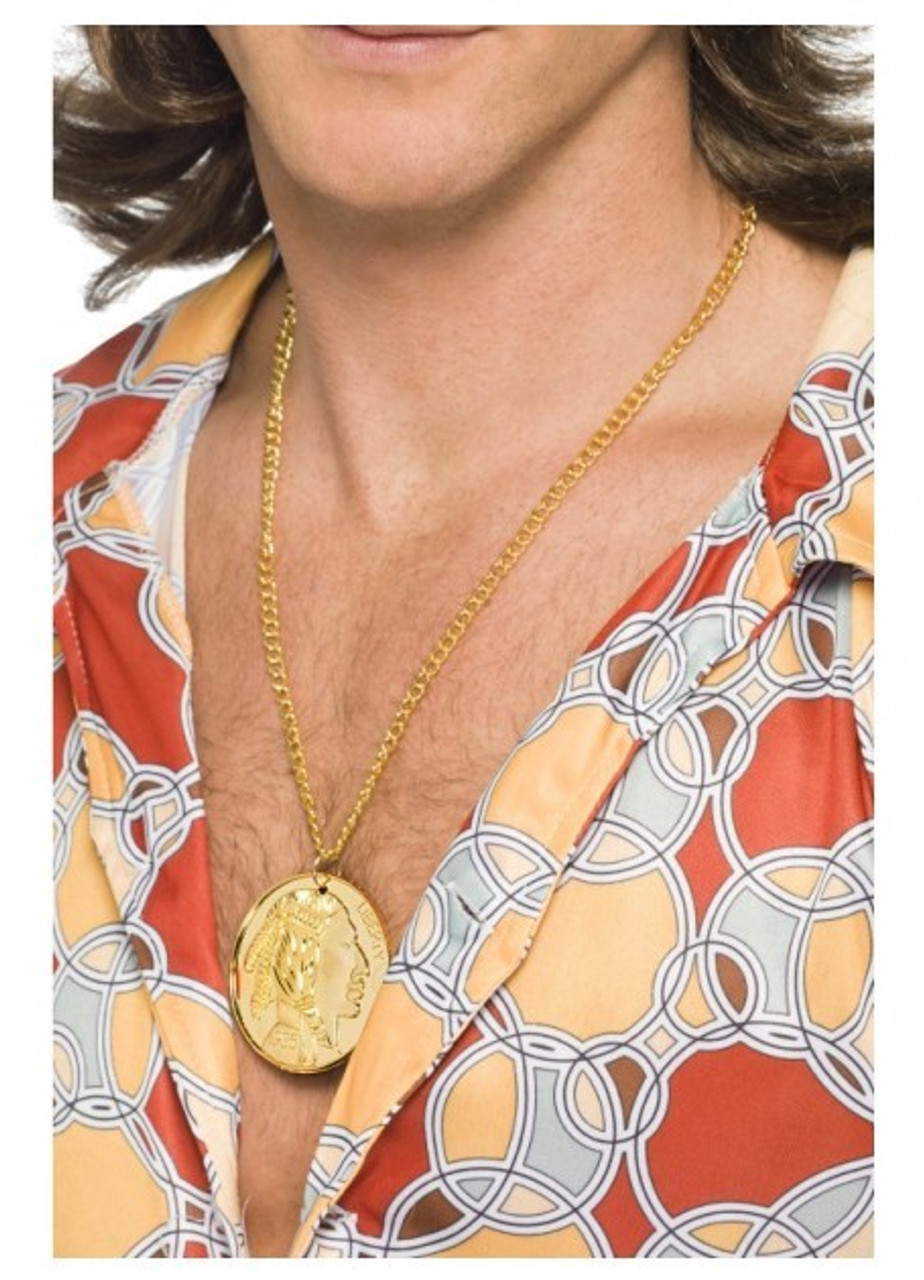 Gold Metal Medallion Necklace Fancy Dress From Costumes To Buy