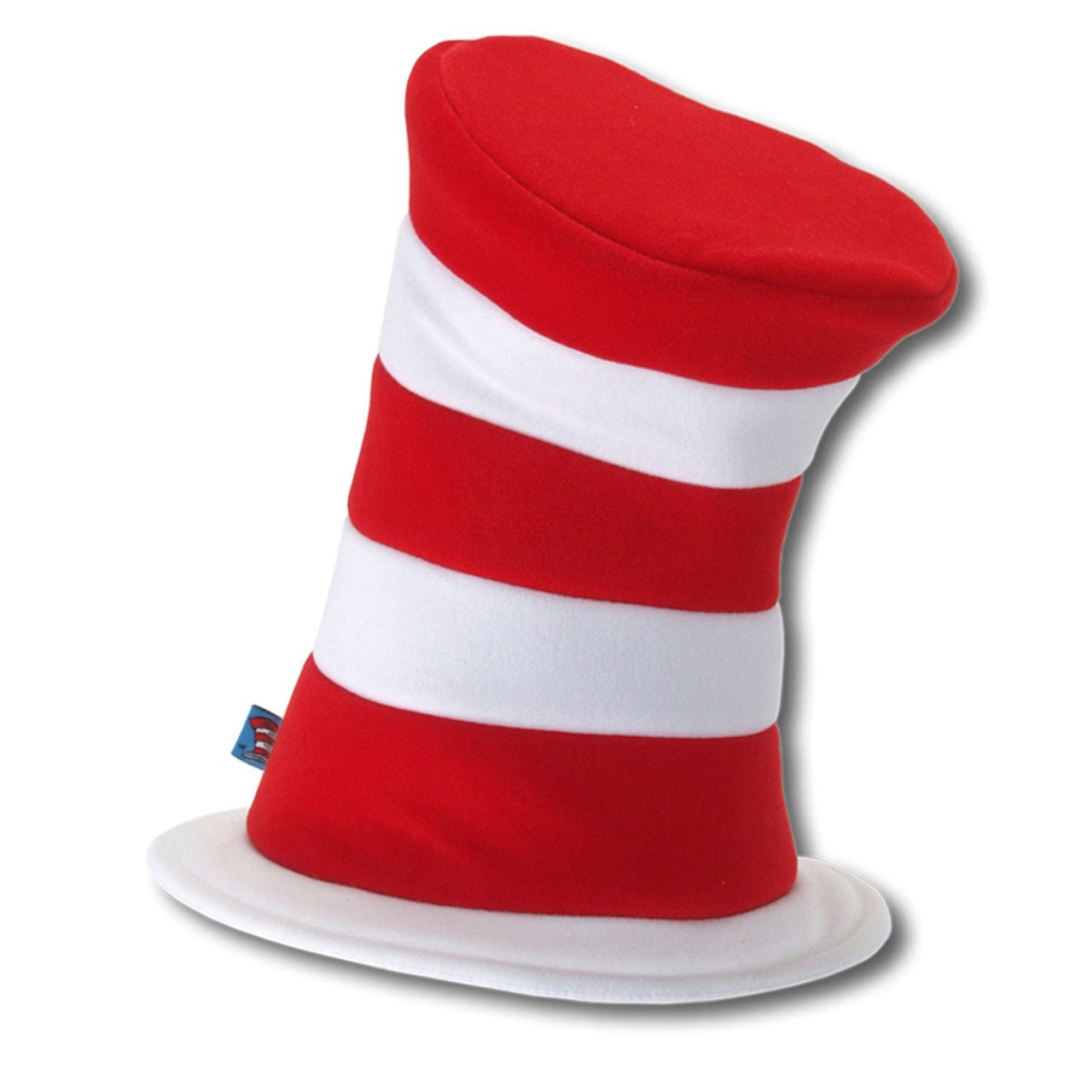 Seuss Cat in the Hat Red White Striped Stovepipe Felt Hat New Dr Costume