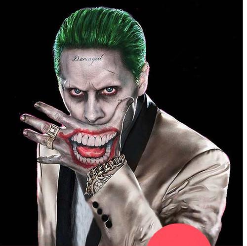 Suicide Squad Joker Halloween Costume.The Joker Tattoo Kit