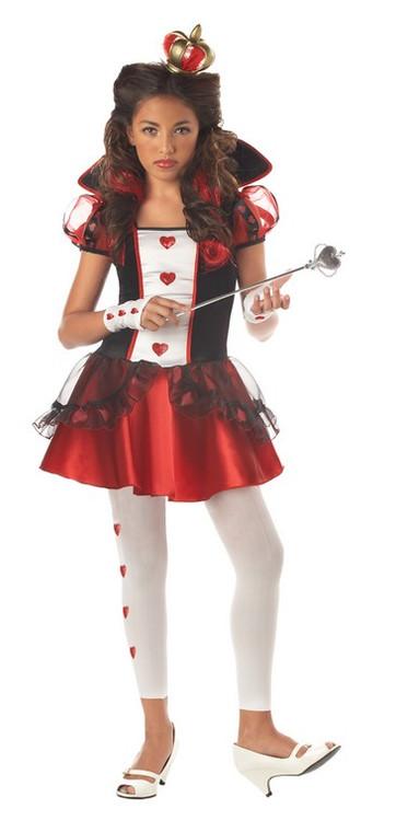 Queen of Hearts Costume Tween
