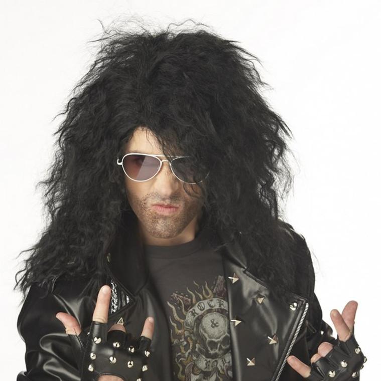 Heavy Metal Rocker Mens Wig - Black