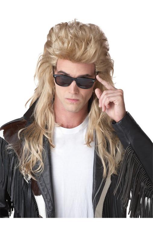 80's Rock Mullet Blond Wig