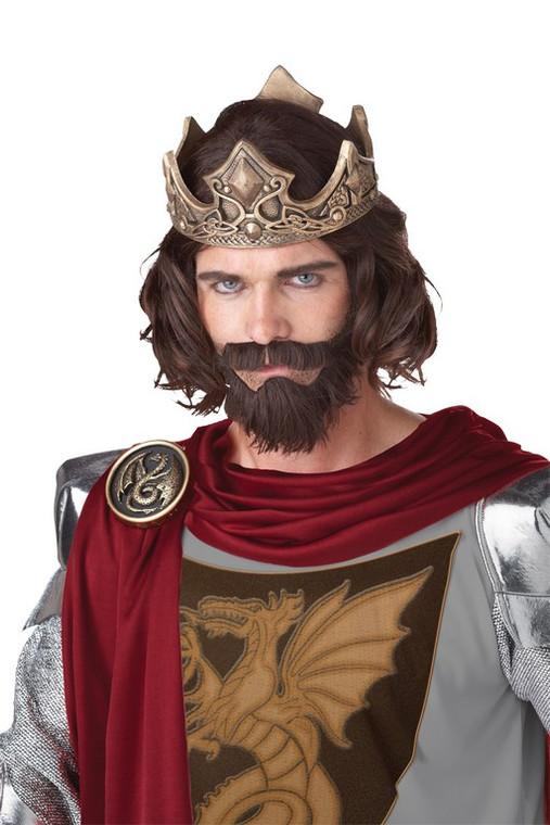 Medieval King Brown Wig