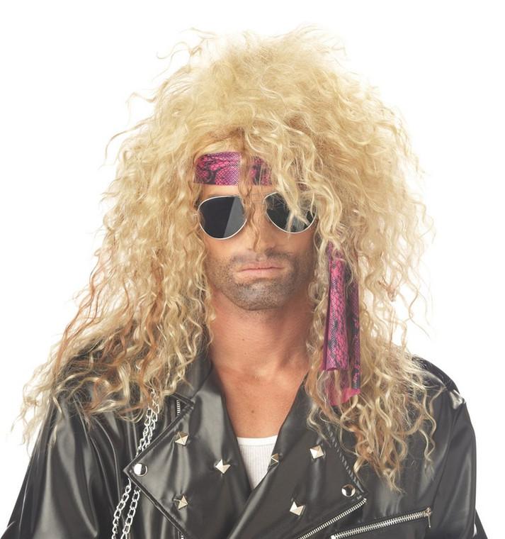 Heavy Metal Rocker Mens Wig - Blond