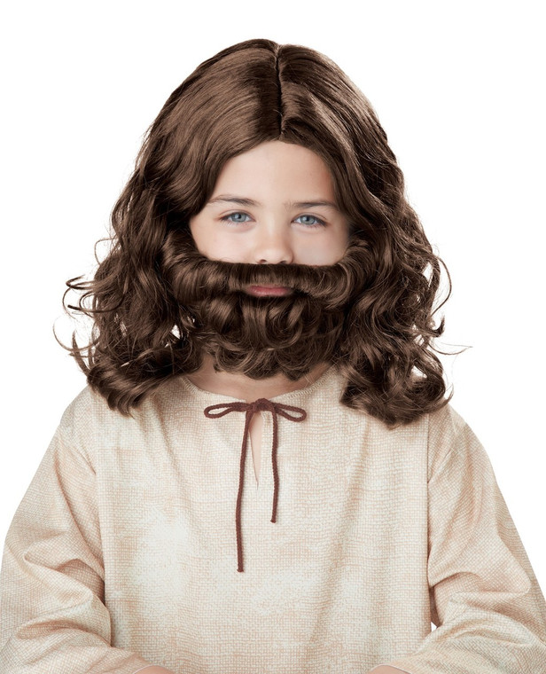 Jesus Childs Wig and Beard