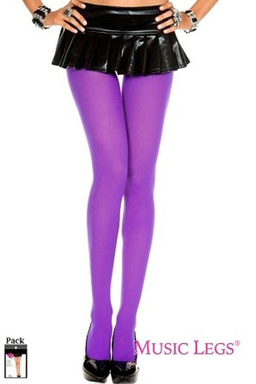 Purple Opaque Tight Stockings