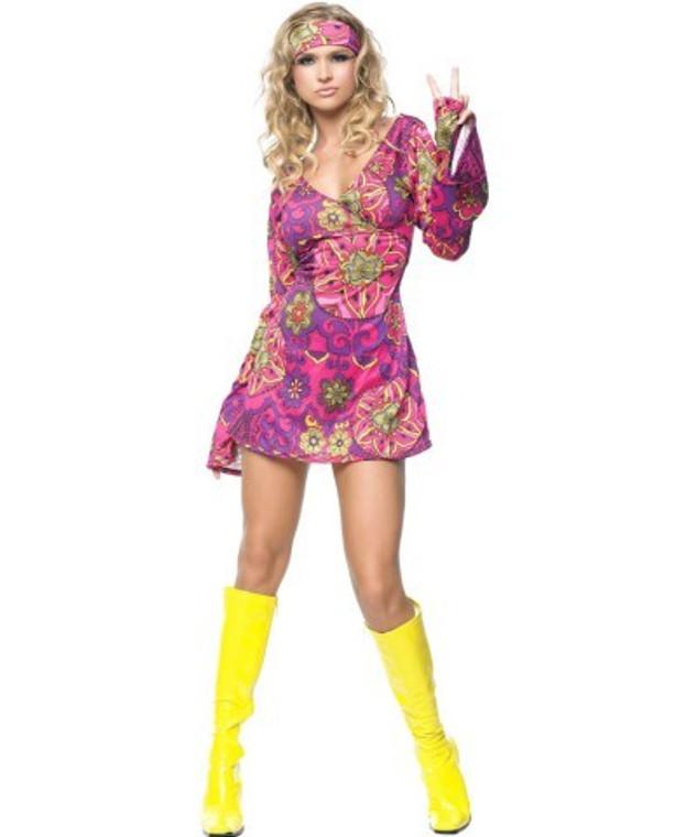 Hippie Go Go Chick Womens Costume