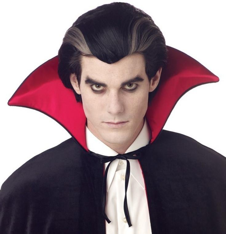 Modern Vampire Mens Wig with Grey Streaks