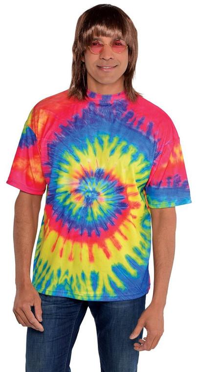 Hippie Tie-Dye Mens Shirt