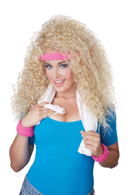 Lets Get Physical 80s Blonde Wig