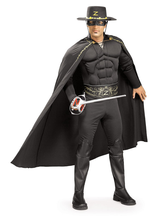 Zorro Costume With Muscle Chest