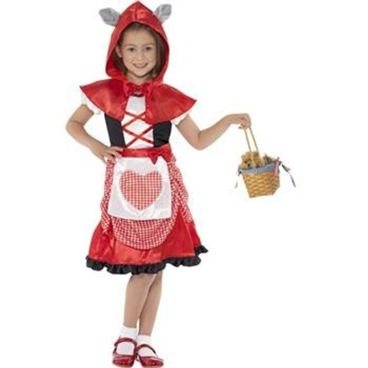 Miss Hood Red Riding Girls Costume