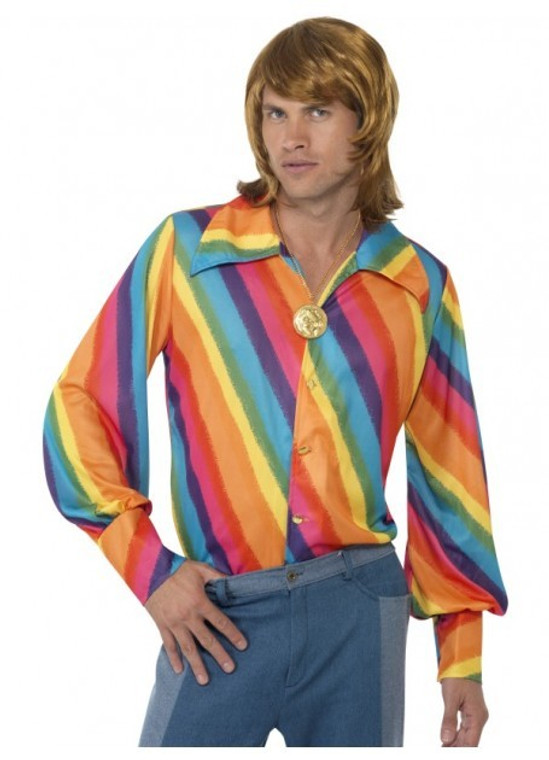 1970s Rainbow Disco Shirt