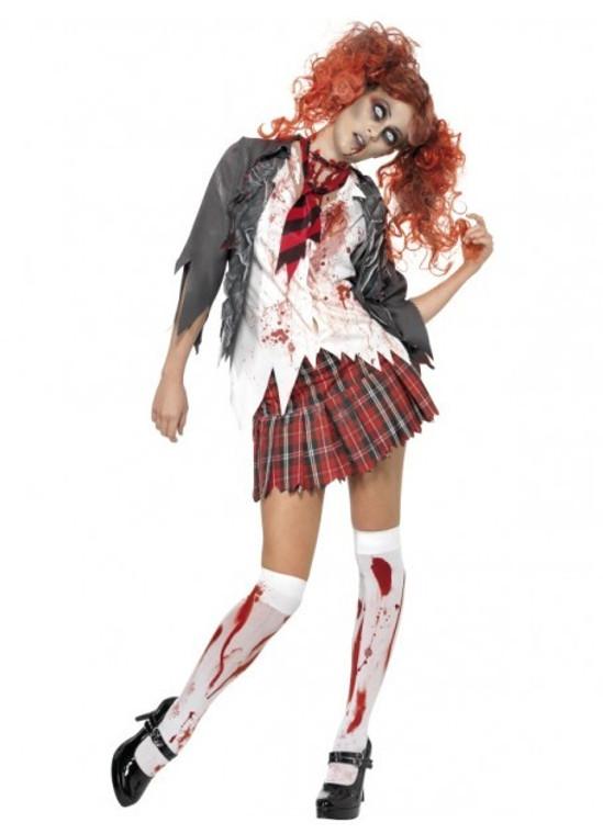 Halloween School Girl Zombie Costume