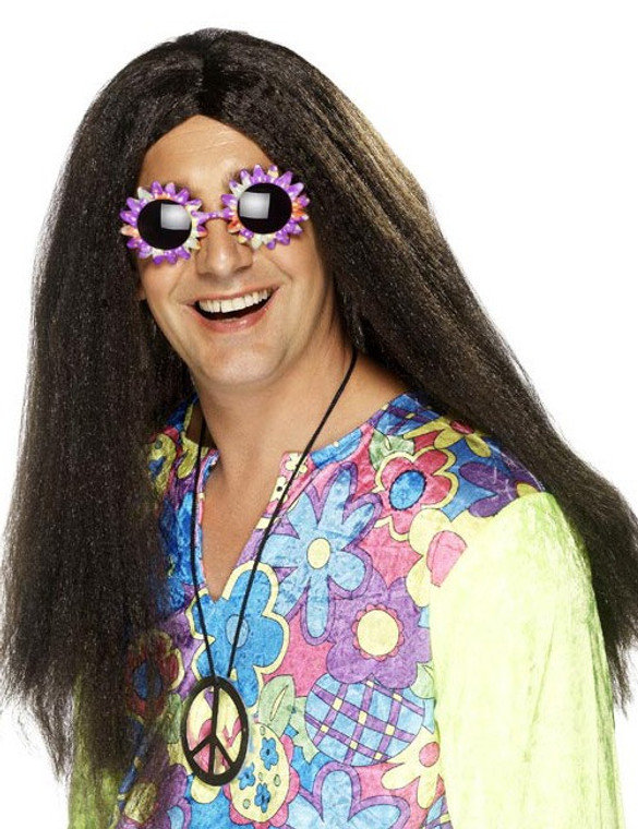 Hippy Mens Long Wig