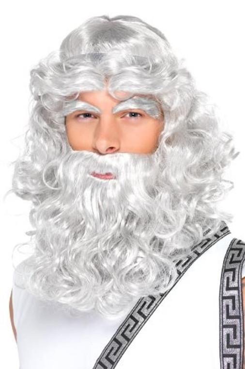 Zeus Grey Wig and Beard