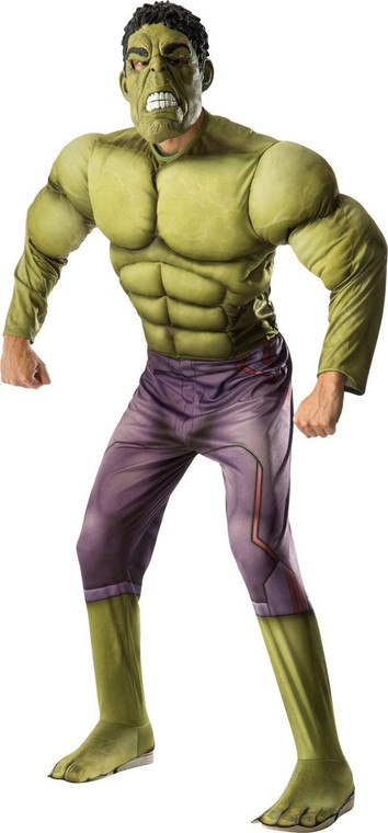 Hulk Muscle Mens Deluxe Costume - Avengers Age of Ultron