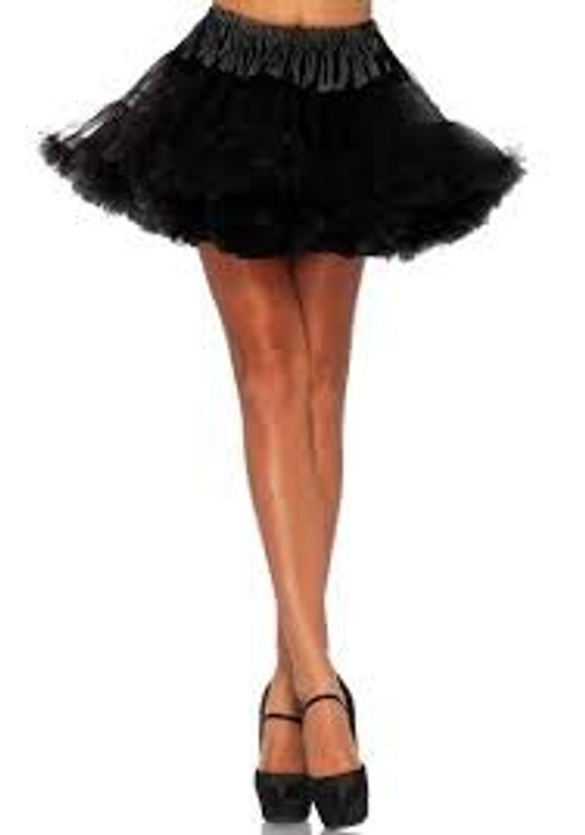Black Fluffy Layered Petticoat
