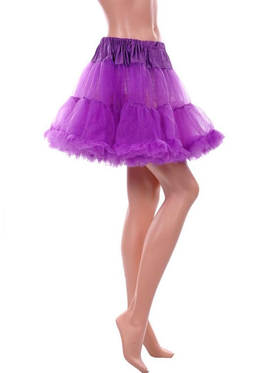 Purple Fluffy Layered Petticoat