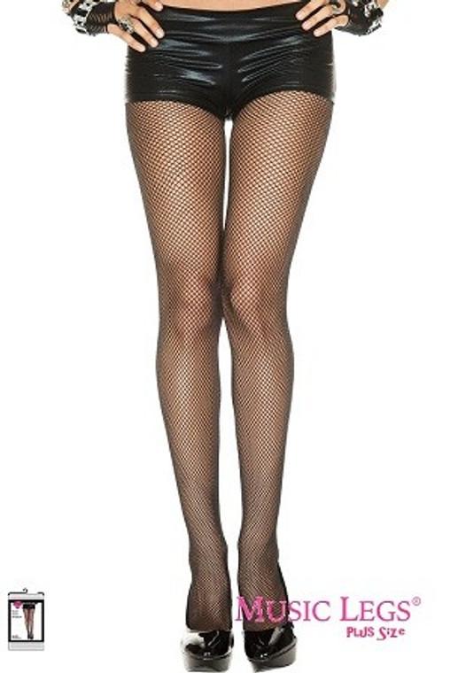 Black Fishnet Pantyhose - Plus Size