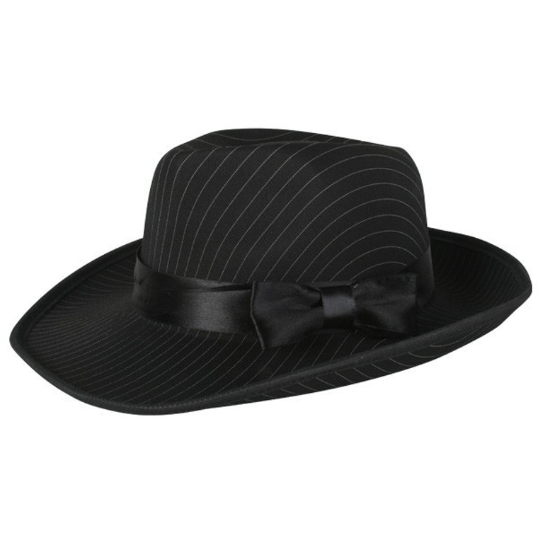 Pinstriped Black Gangster Hat
